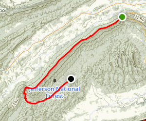 Walker Mountain Trail Map