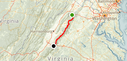 Skyline Drive: Front Royal to Waynesboro Map