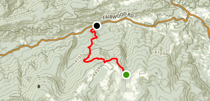Appalachian Trail: Iron Mountain & Brushy Mountain  Map