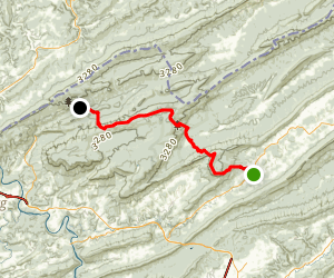 Appalachian Trail: Sinking Creek to Stony Creek Map