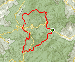 Thorton Gap and Buck Hollow Trail Map