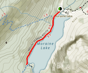 Moraine Lake Shoreline Trail Map