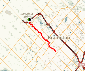 Brampton Etobicoke Creek Trail Map