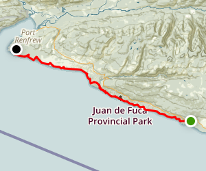 The Juan de Fuca Marine Trail Map