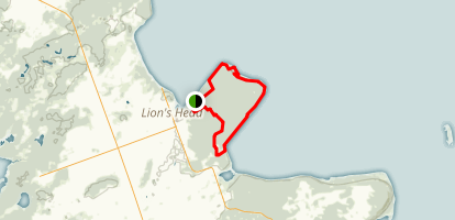Lion's Head Loop Via Bruce Trail  Map