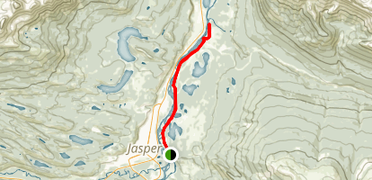 Athabasca River Trail Map
