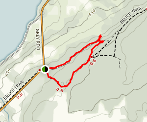 Bruce's Caves Conservation Area Trail Map