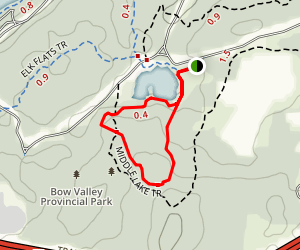 Middle Lake Trail Map