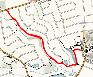 Rouge River Headwaters Walk  Map