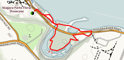Dufferin Island Loop Trail Map