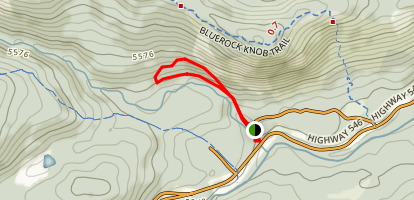 Bluerock and Indian Oils Trails Map