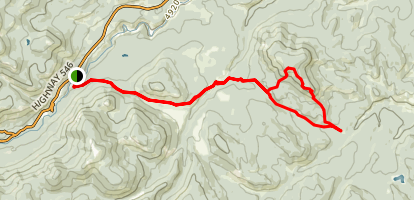 Green Mint Trail to Spaulding Point and Green Mountain  Map