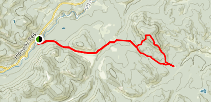 Green Mountain and Spaulding Point Trail  Map