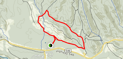Long Prairie and Pine Ridge Loop Trail Map