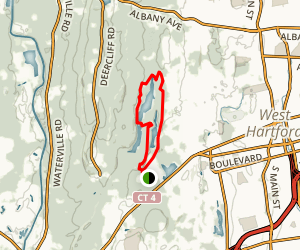 West Hartford Reservoir Loop Map