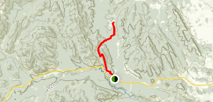 Foran Grade Trail to Windy Point Trail Map