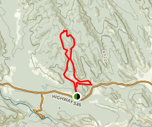 Pine Ridge and Macabee Loop Trail Map