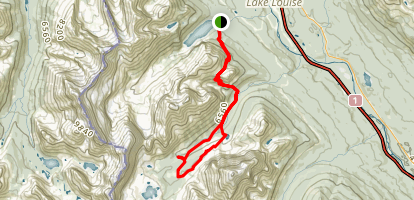 Paradise Valley to Lake Annette and Giant Steps Map