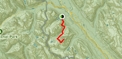 Paradise Valley Trail to Mount Temple Map