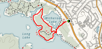 Long Lake Park Reserve Loop Trail Map