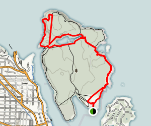 Newcastle Island Bates Trail Map