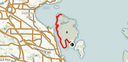 Channel Trail to Giovando Lookout Map