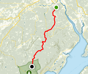 Dobson Trail to Laverty Falls Map
