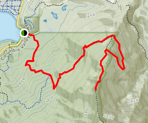 Mount Amadis via International Ridge Trail Map