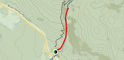 Johnston Canyon Trail to Lower Falls Map