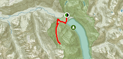 Radium Lake Map