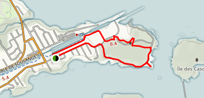 Pointe des Cascades Map