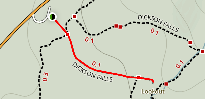 Dickson Falls Lookout Trail Map