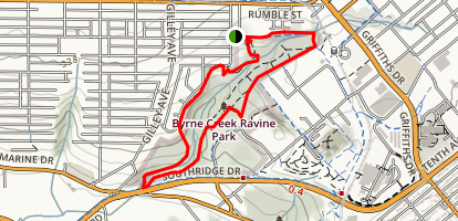 Byrne Creek Ravine Loop Trail Map