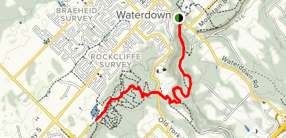 Waterdown Trail to Smokey Hollow Map