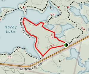 Hardy Lake Short Loop Trail Map