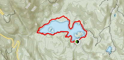 Weaver Lake Trail Map