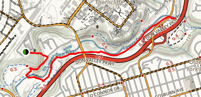 Lower Don Trails Map