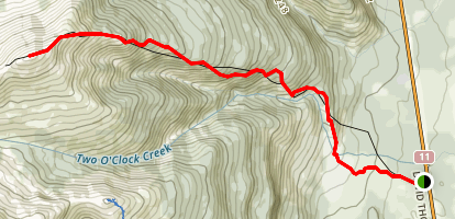 Two O'Clock Ridge Map