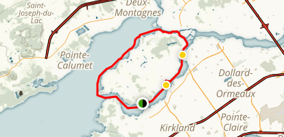 Ile Bizard Paddling Loop Map