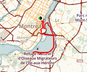 Montreal Bike Tour: Parc la Fontaine to Sainte-Catherine Map