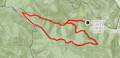 Winsor Creek Loop  Map