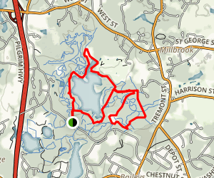 North Hill Marsh Loop Trail Map