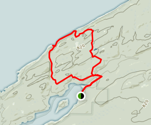 Huginnin Cove Trail Map