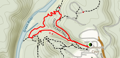 Dixon Cave Trail Loop Map