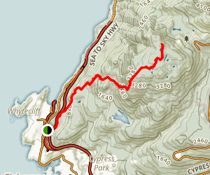 Black Mountain via Baden-Powell Trail Map