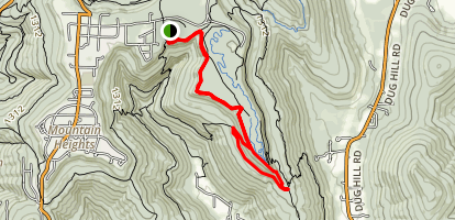Rocky Nightmare and South Plateau Loop Trail Map