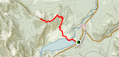 Yates Mountain via Prairie View Trail Map