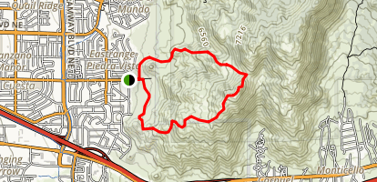 Eye Of The Sandias Loop Trail Map