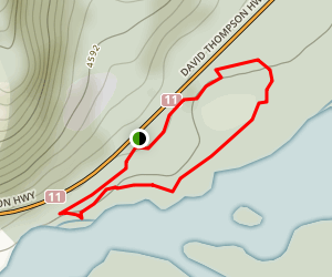 Whirlpool Point East Side Trail Map
