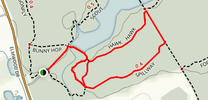 Spillway and Hawk Loop Trail Map